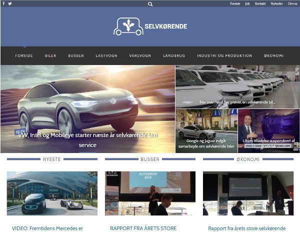 Selvkørende website bygget af Webarkitekterne - referencer